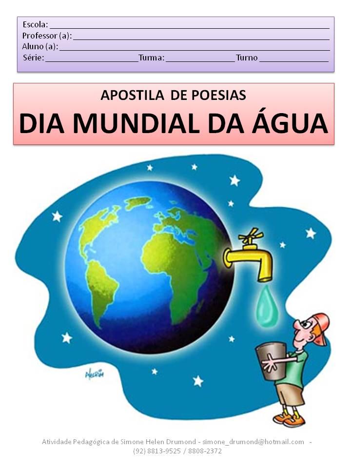 Apostila De Poesias Dia Mundial Da Gua