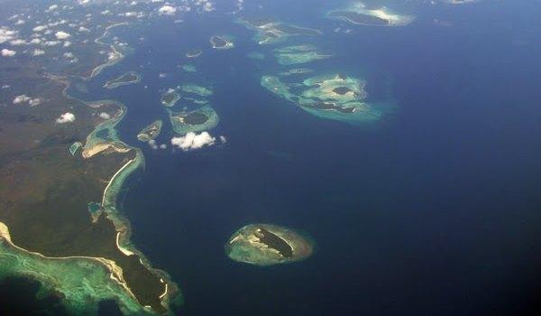 Pemandangan Kepulauan Kei dari Udara