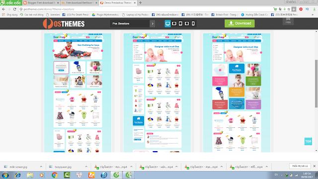 Free download BeeStore Responsive Prestashop Kids Theme