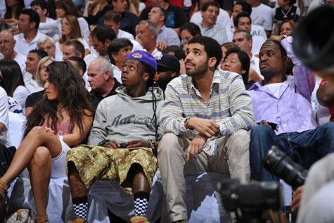 Foto do Lil Wayne, sua namorada e Drake