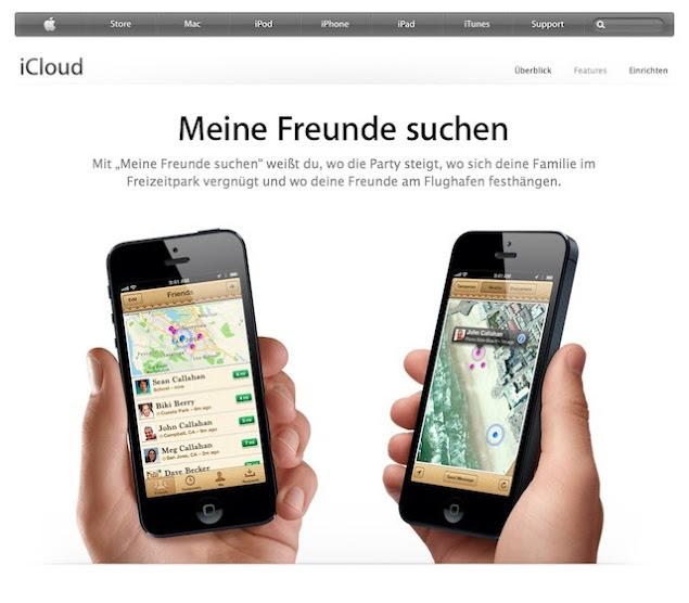 """Screenshot """"Meine Freunde suchen"""""""