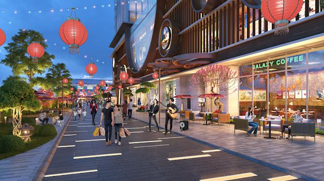 Khu phố đèn lồng của dự án Hinode City 201 Minh Khai