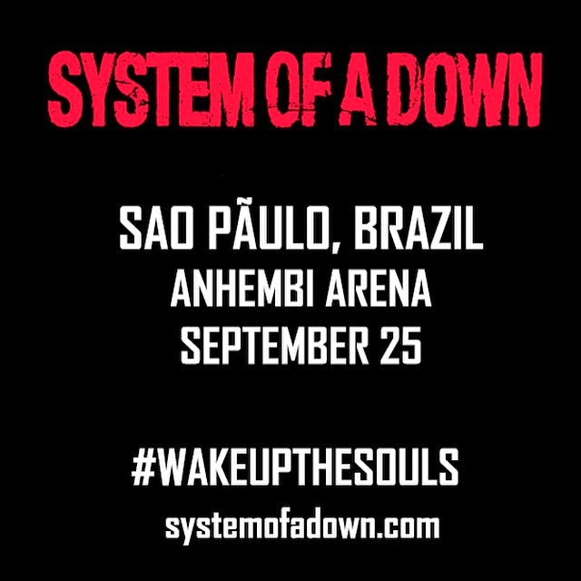 System of a Down confirma show em São Paulo!
