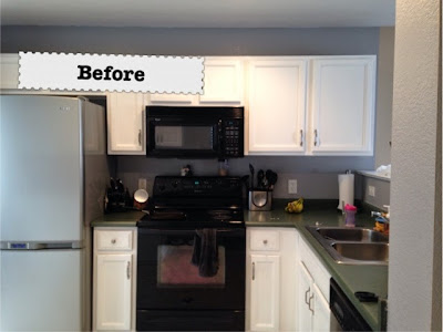Kitchen Countertop remodel before and after photos www.thebrighterwriter.blogspot.com