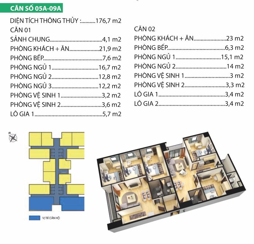 Thiết kế căn hộ 5A-9A
