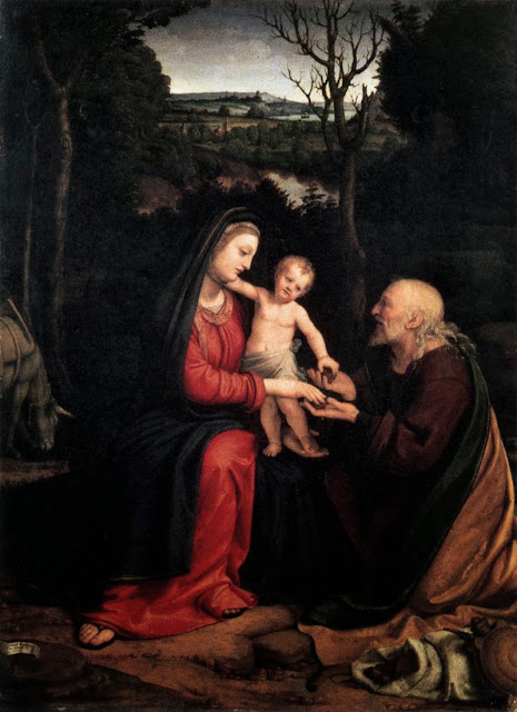 Andrea Solari - Rest during the Flight to Egypt