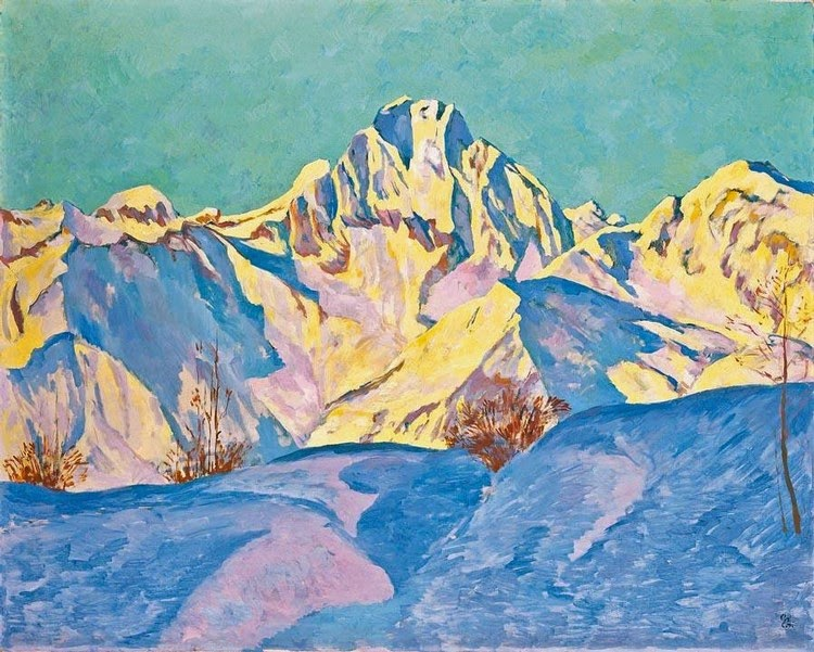 Giovanni Giacometti - Snow Mountains