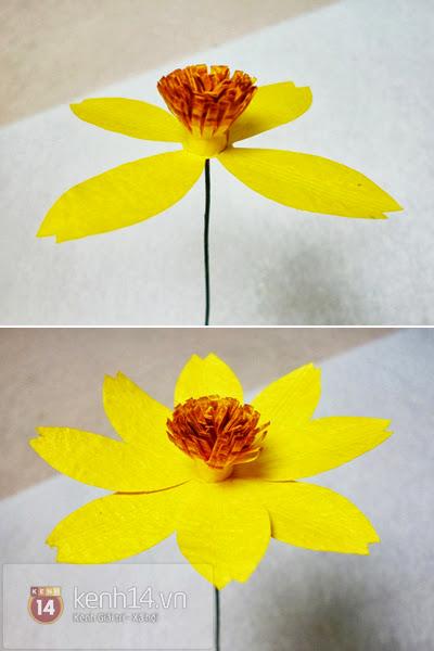 hoa+giay+5 Cách làm hoa trang trí đơn giản từ giấy