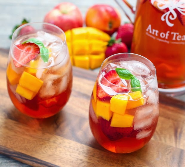 two glasses of Iced Tea Sangria
