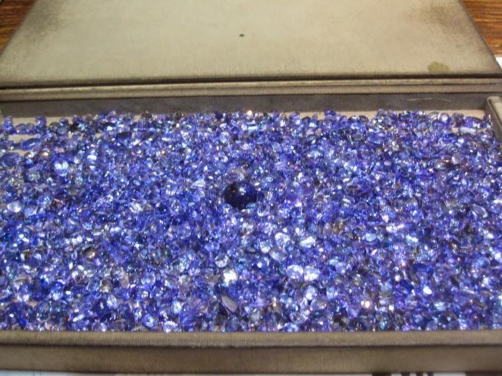 Tanzanite - a beautiful blue stone considered rarer than diamonds.
