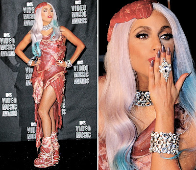 lady gaga meat dress. to wear a meat dress?