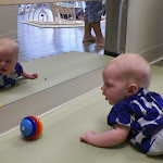 LePort Preschool Huntington Beach - Mirrors encourage tummy time - Montessori childcare