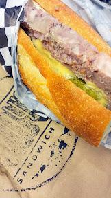 Addy's Sandwich Bar - country pate + cornichons + mustard