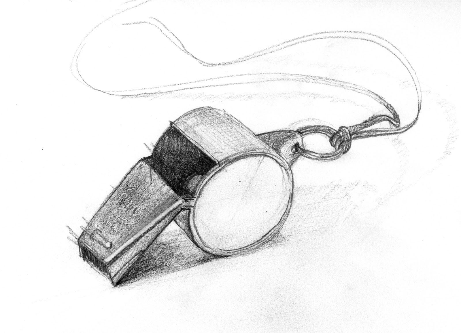 how to draw a whistle