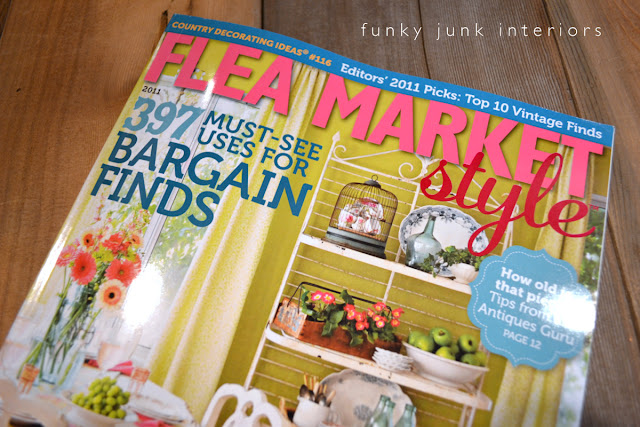 Flea Market Style Magazine feature of Funky Junk Interiors
