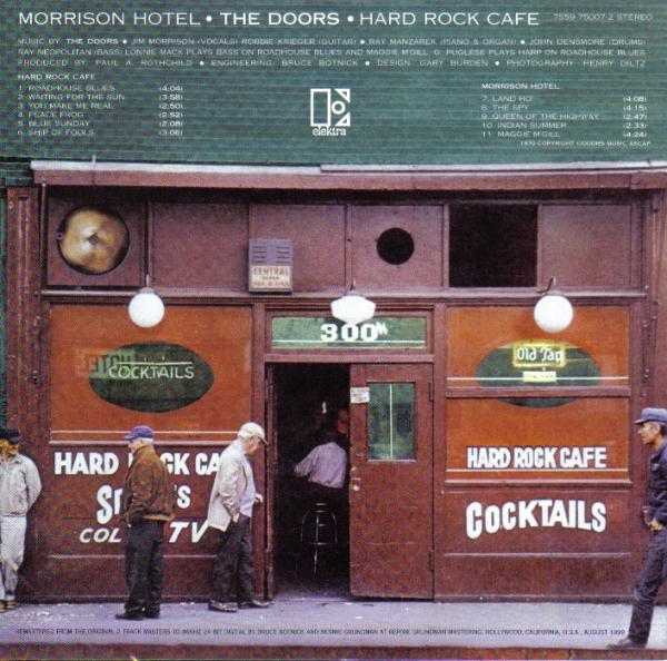 Contra-capa do álbum Morrison Hotel