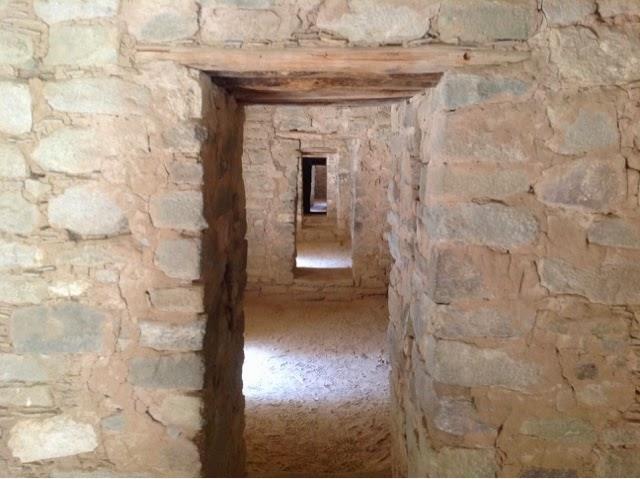 Passage way inside the Aztec Ruin