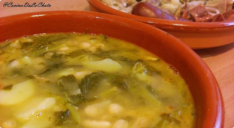 Receta de Caldo Gallego con Grelos, Cocina de La Chata
