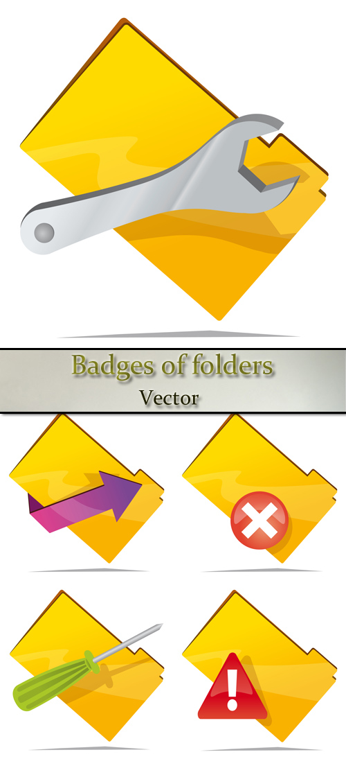 Stock: Badges of folders