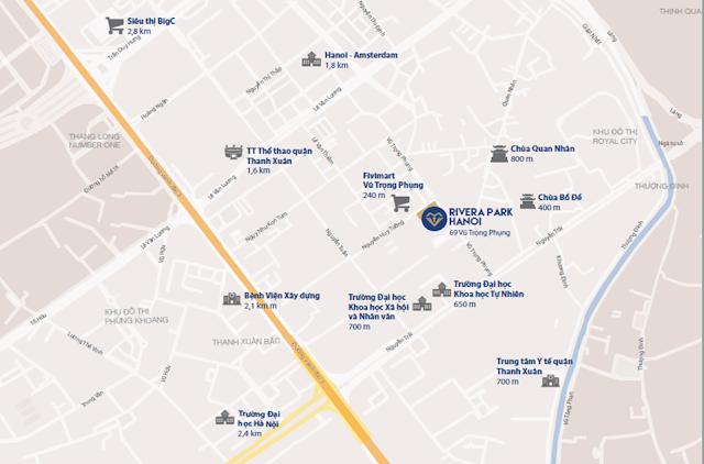 Vị trí đắc địa tại chung cư Rivera Park Hà Nội