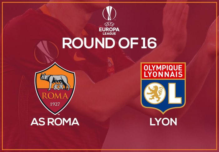 AS Roma vs. Olympique Lyonnais | UEFA Europa League 2016/17 [image by @OfficialASRoma]
