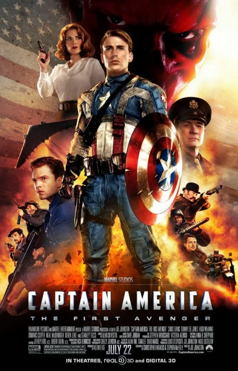 Poster Of Captain America - The First Avenger (2011) Full Movie Hindi Dubbed Free Download Watch Online At Alldownloads4u.Com
