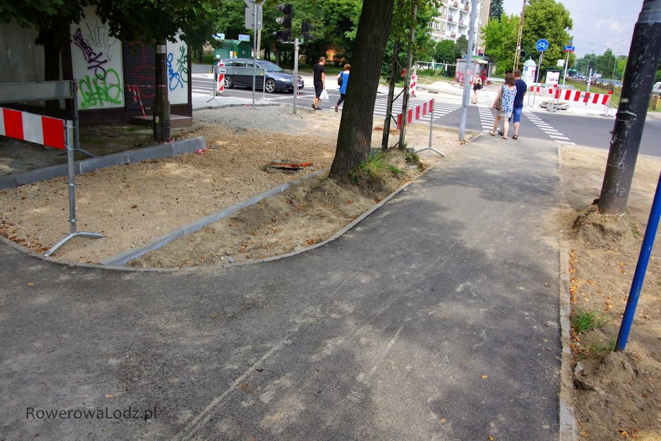 Przejazd dla rowerów przez ul. Sporną.