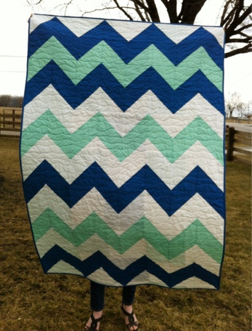 Farm Wife Journal: Ocean Waves Chevron Quilt