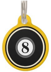 Yellow Custom Dog ID Tag