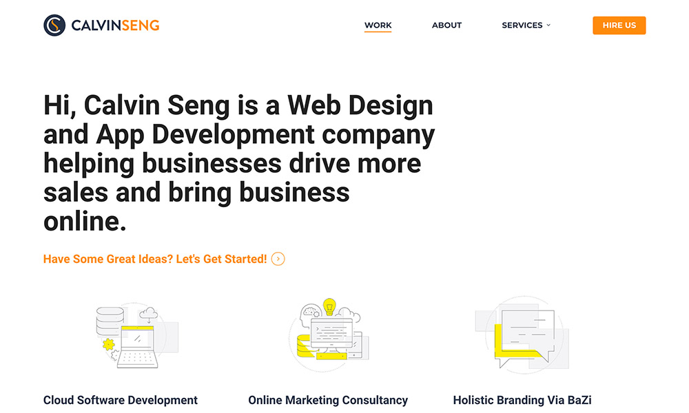 Calvin Seng Co is one of the biggest software companies in Singapore