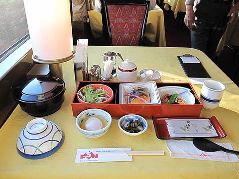 寝台特急「トワイライトエクスプレス」 朝食(和食)