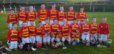 Under 14 hurlers who beat Kilavullen in the Feile B semi final on 13 April 2014