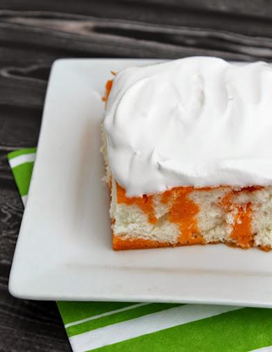 Lightened-Up Orange Poke Cake Recipe