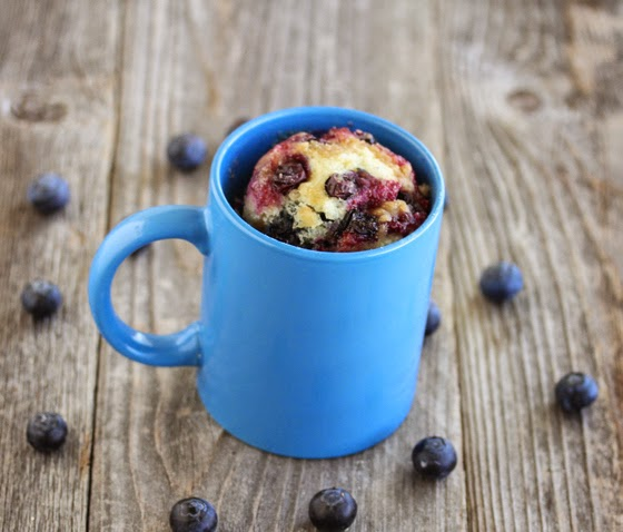 photo of Blueberry Muffin With Streusel Topping Mug Cake