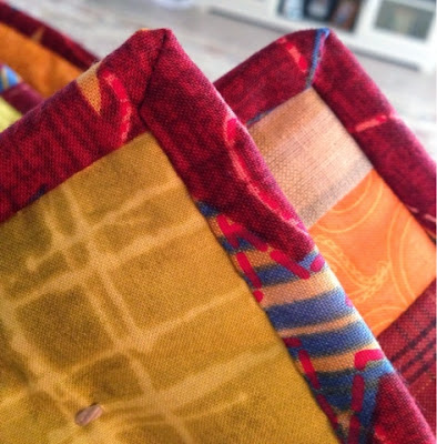 hand sewn quilt corners