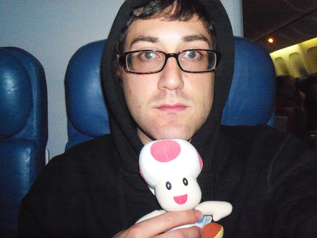 Joey & Toad on the plane