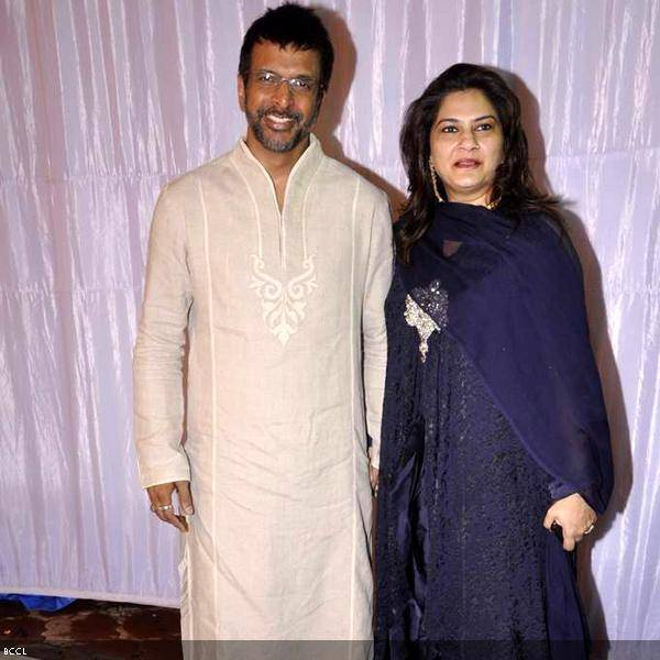 Javed Jaffrey with wife Habiba at Ramesh and Seema Deo's 50th wedding anniversary, held at ISKCON, in Mumbai, on July 1, 2013. (Pic: Viral Bhayani)