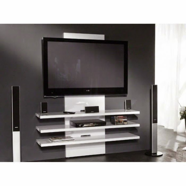 dix meubles tv suspendus au mur. Black Bedroom Furniture Sets. Home Design Ideas
