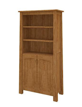 Luxor Wooden Door Bookshelf in Como Maple
