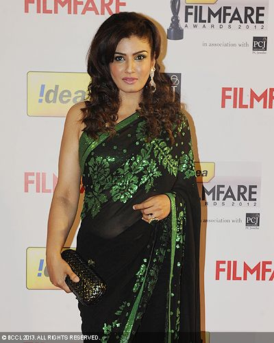 Ravishing Raveena Tandon during the 58th Idea Filmfare Awards 2013, held at Yash Raj Films Studios in Mumbai.Click here for:<br />  58th Idea Filmfare Awards