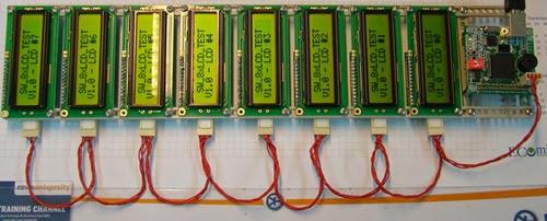 control 8 LCD using I2C