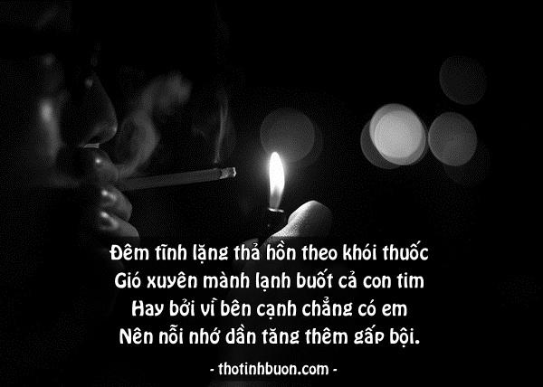 thơ 4 câu đêm nhớ em yêu bên làn khói thuốc