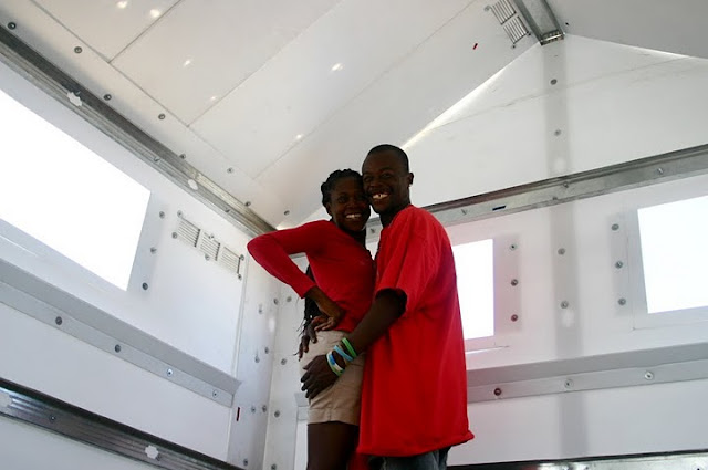 Genesis and his wife Linda in their new home!