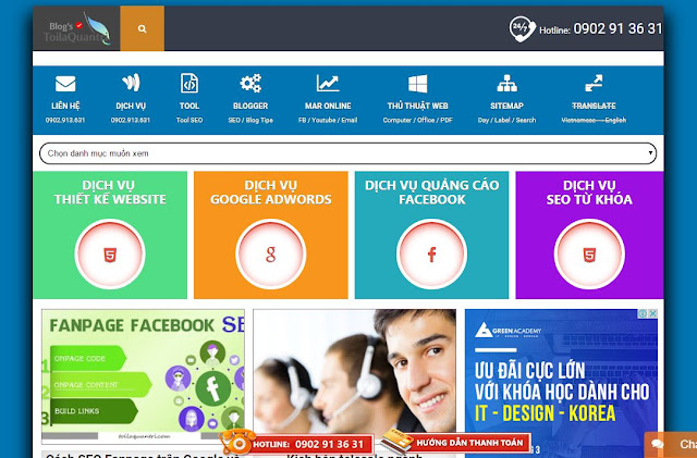 Chia sẻ Template Blogspot cực đẹp 2016 - Blogger Template for Seo