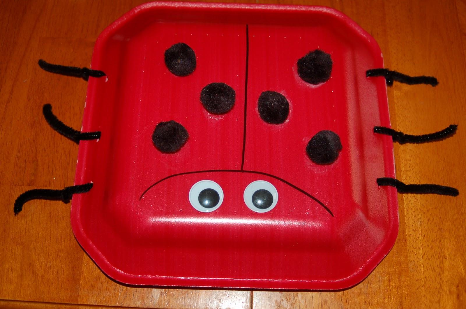 Ladybug Paper Plate Craft with Pom Poms & Ladybug Paper Plate Craft with Pom Poms - Surviving A Teacheru0027s Salary