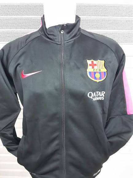 Jual Jaket Barcelona Hitam List Pink 2014-2015