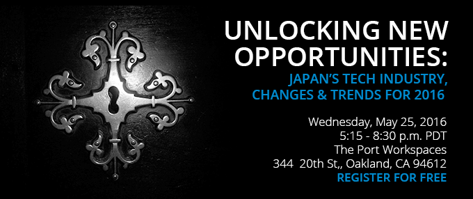 Free Webinar on May 25, 2016: Japan's Tech Industry in 2016 - Oakland, CA