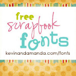 I get the cutest fonts from Free Scrapbook Fonts! kevinandamanda.com/fonts