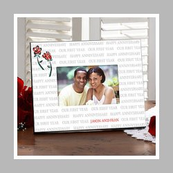 Gift Ideas for Our First Year© Personalized Frame
