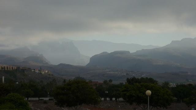 Blick in die Berge, von Maspalomas aus.